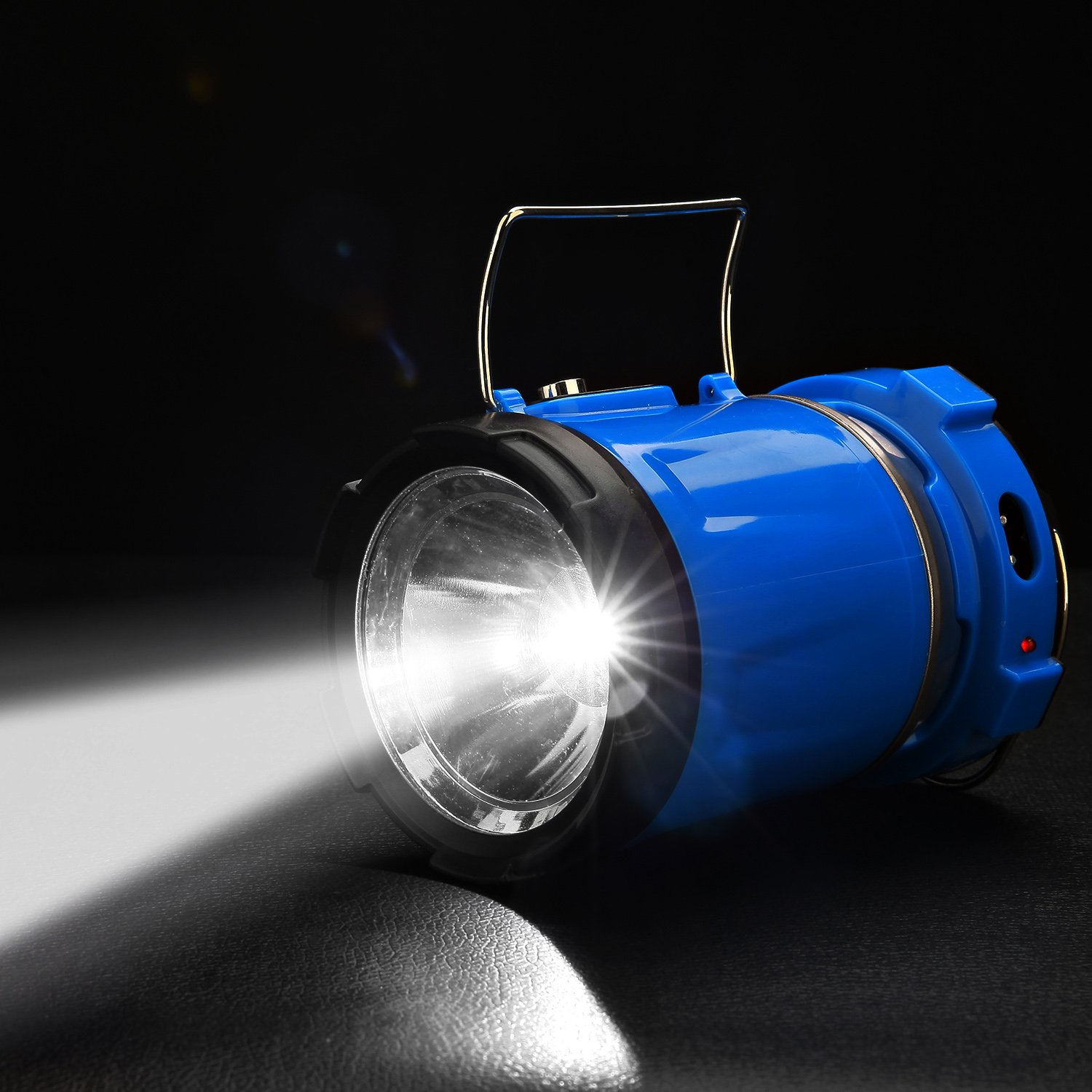 Camping Lantern Light, IRuiYinGo Rechargeable Lamp Solar LED Flashlight with Hanging Blue Color, Great light for Camping/ Hiking/ Backpacking...Outdoor Activities by IRuiYinGo (Image #6)