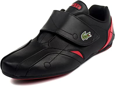 watch fb285 29c18 Lacoste Protect Mens Black Sneakers Leather Athletic Sneakers Shoes UK 10  ...