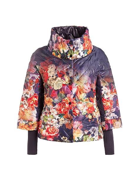 501eef186b4 Fiorella Rubino  anorak de mujer reversible con estampado floral ...