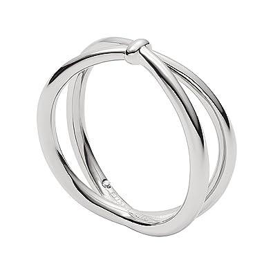 30f0167b67 Fossil Damen Ringe Edelstahl Ringgröße 54 (17.2) JF02867040-6.5 ...