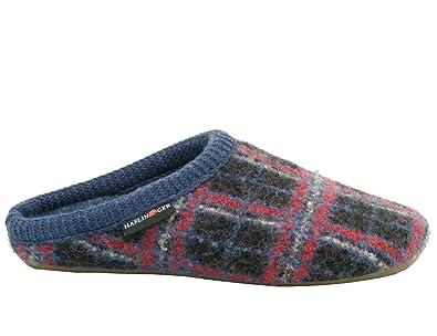 Schuhe Damen Hausschuhe Pantoffeln Wolle Everest Check 482006, Schuhgröße:42;Farbe:Rot Haflinger