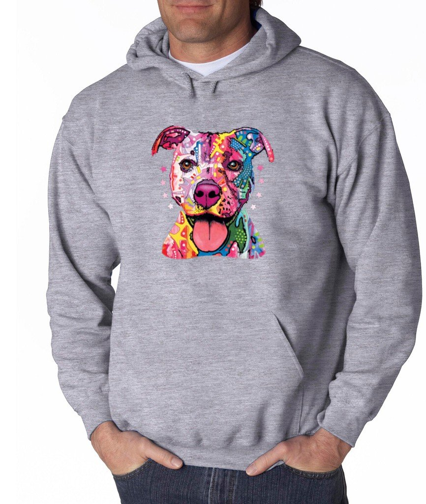 Pitbull Love Pitbull Mom Dad Hoodie Cute Pitbull Art Cool Pitbull Sweatshirt Sports Grey 507 by VISHTEA (Image #1)