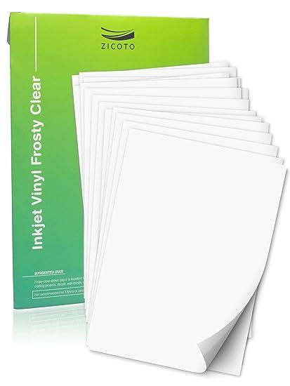 Papel adhesivo de vinilo para impresora de inyección de ...
