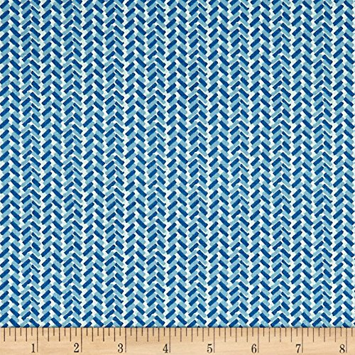 (Liberty Fabrics The Cottage Garden Country Path Blue Fabric by the Yard)
