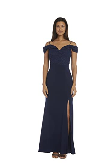 Nightway Lace Off The Shoulder Gown At Amazon Womens Clothing Store