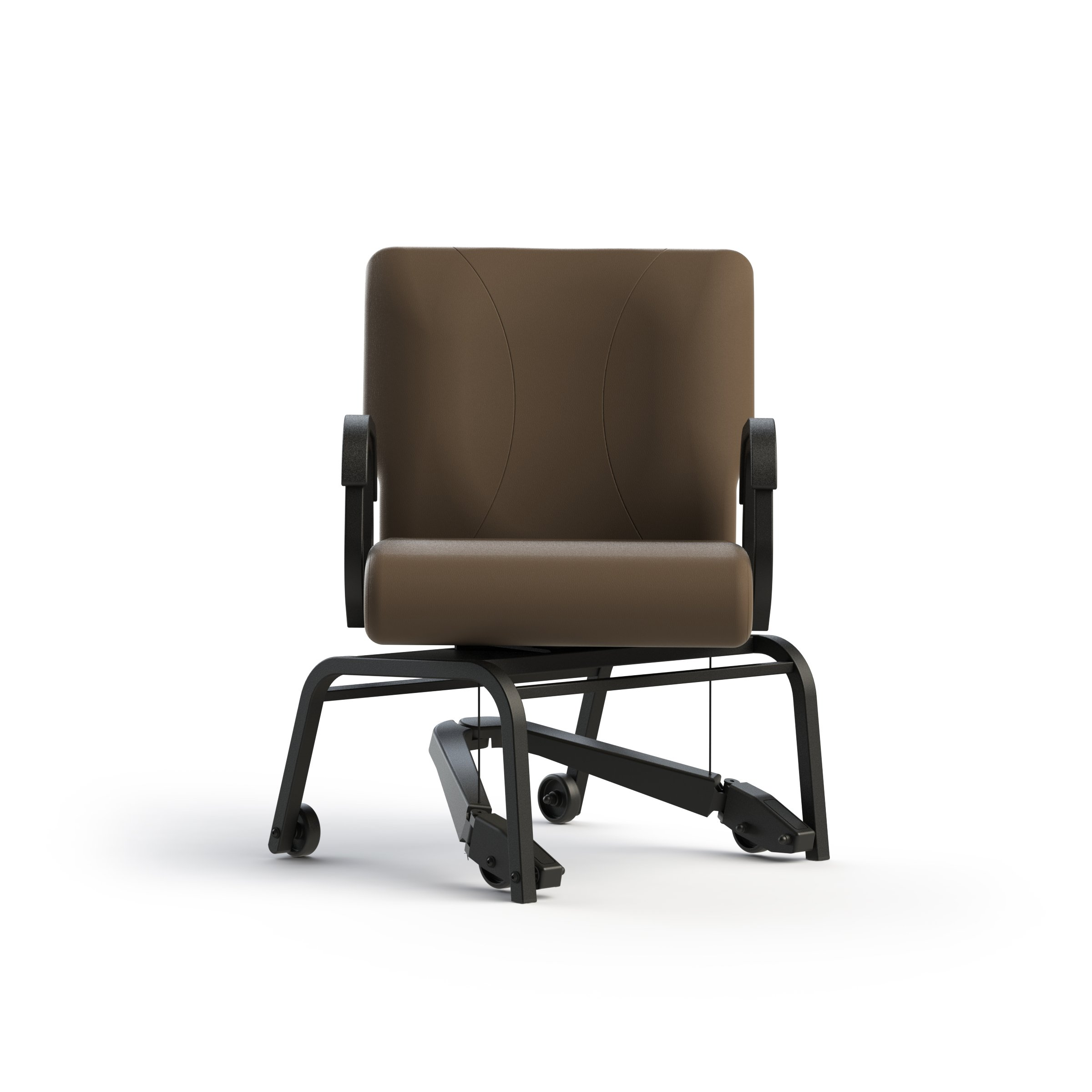 Living Made EZ LMZ-J1-5482 Titan Armed Chair with Steel Frame, Swivel, Mobility Assist Lever, Java, 22 Inch Width by Living Made EZ