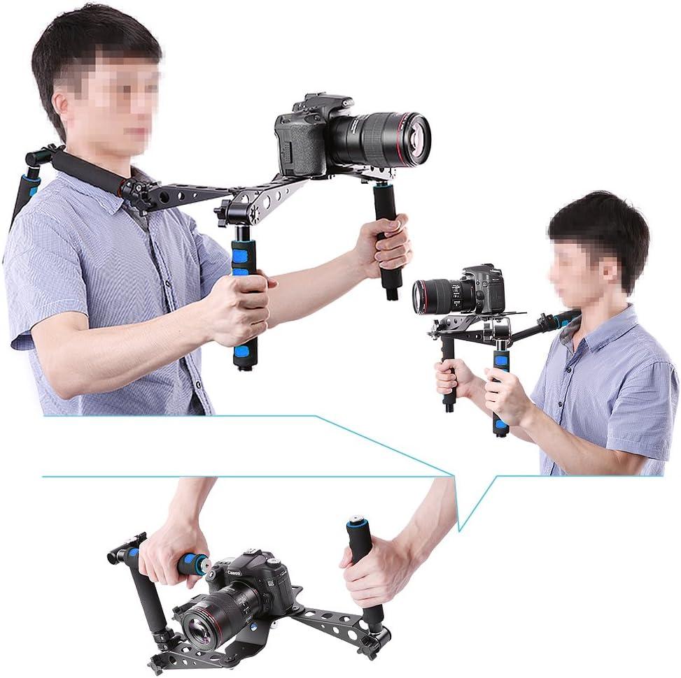 Neewer Foldable DSLR Camera Shoulder Rig for Digital SLR Camera and Camcorder Such as Canon 5D Mark II III 1D 7D 60D 700D 650D 600D 550D Rebel T5i T4i T3i T2i Nikon D800 D700 D90 D5000 D7000 D7100