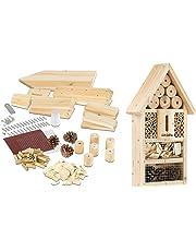 PEARL Insektenhaus: Insektenhotel-Bausatz, Nisthilfe und Schutz für Nützlinge (Insektenhaus Bausatz)