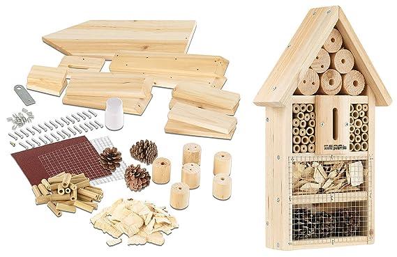 Pearl Casa para insectos : kit de hotel para insectos, caja de anidación y protección (para construir usted mismo): Amazon.es: Productos para mascotas