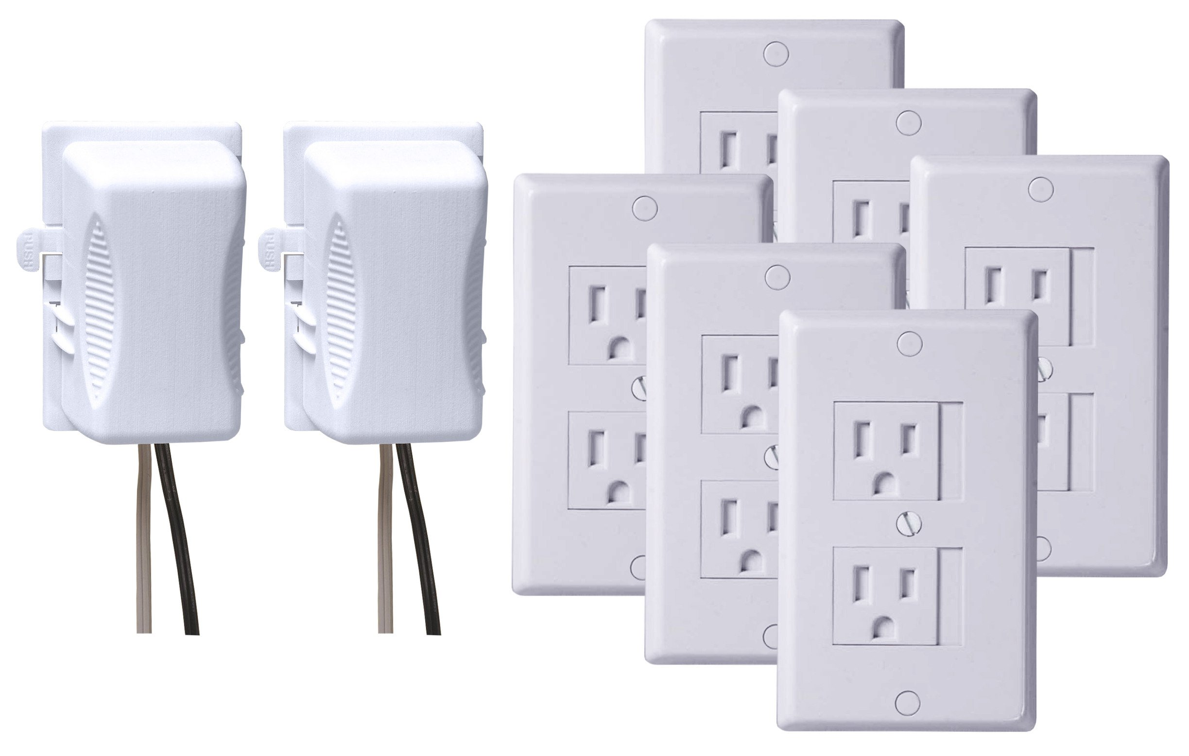Kidco Universal Outlet Cover 6 Pack with Outlet Plug Covers