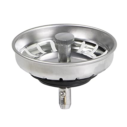 Everflow 7532IN Stainless Steel Kitchen Sink Strainer Basket - Replacement  for Standard Drains (3-1/2 Inch) - Ball-lock Rubber Stopper