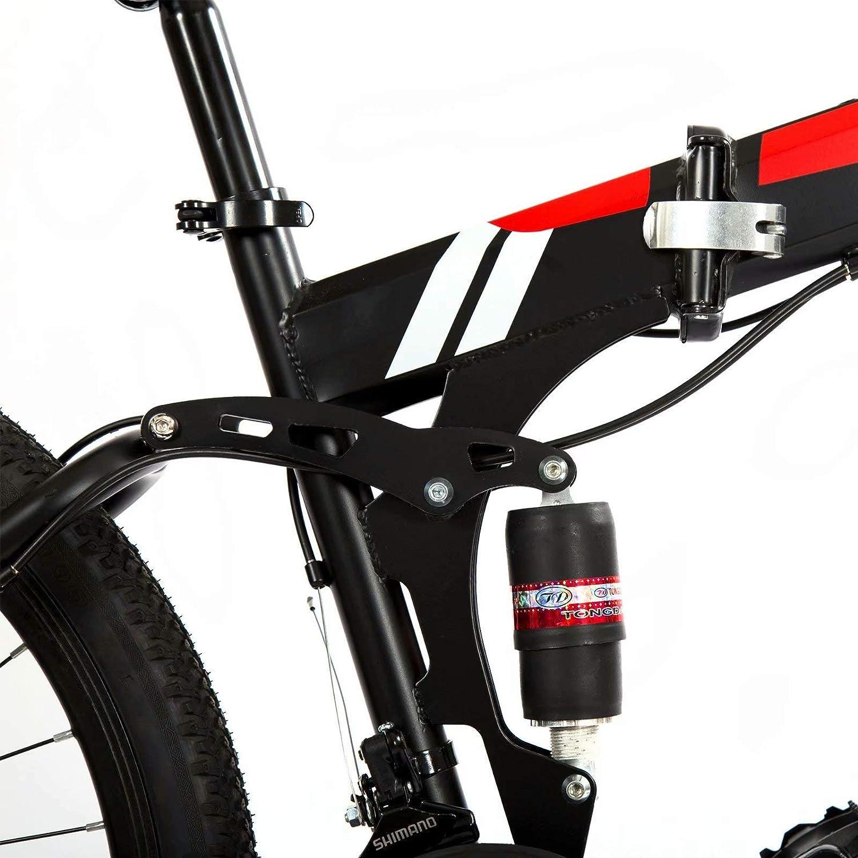 10 Cortadores Freno Doble Disco 24-Stage Shift Bicicletas Monta/ña 26 Pulgadas Hombre Mountain Bike Unisex Mujer Rojo