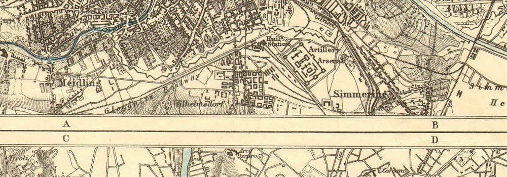 Austria Wien JOHNSTON 1903 old map Roma City plans VIENNA /& ROME Italy