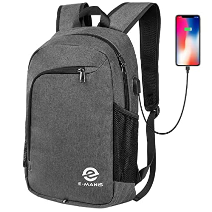Laptop Backpack,Business Anti Theft Slim Durable Laptops Backpack with USB Charging Port,Water