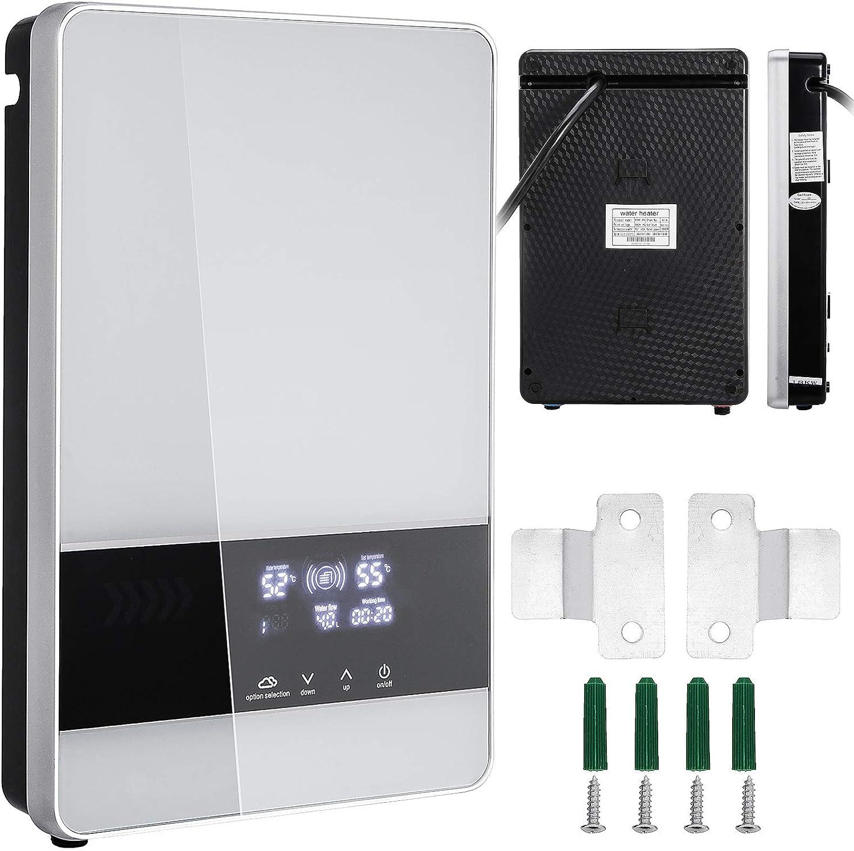 Bisujerro 21 KW Calentador de Agua Instantáneo 380W Calentador de Agua Eléctrico Hot Water Heater para Uso en Cocina o en Baño (21KW)