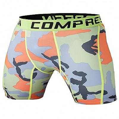 Mens Compression Shorts Fitness Men Cossfit Bodybuilding Tights Camo Shorts 6 S