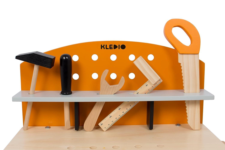 Banco Da Lavoro Black Decker Per Bambini : Kledio banco di lavoro in legno fsc per bambini pezzi