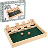 Toyrific TY4660 Shut The Box Single Player Board Game, Wooden Set