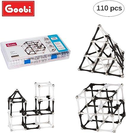 Building Sets Goobi 110 Piece Construction Black White Toy Active Play Sticks 3D
