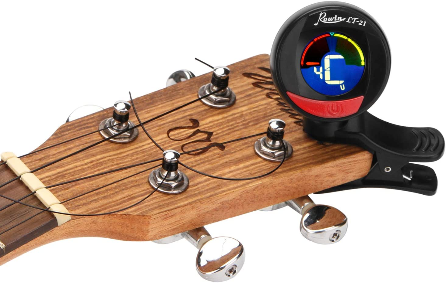 Fitnate Clip-On Tuner for Guitar Bass /& Violin,LCD Display 360 Degree Rotating Auto Power Off Battery Included with 4 picks