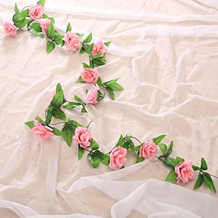 Festive & Party Supplies 245cm Long Artificial Silk Flower Vine 16 Colors Roses Flower Rattan Plants Leaves Home Wall Garden Wedding Decoration Supplies