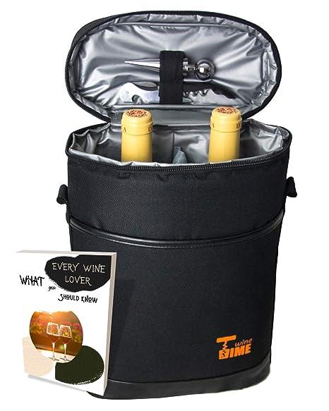 Amazon.com: SIMIS WT - Bolsa para 2 botellas de vino ...