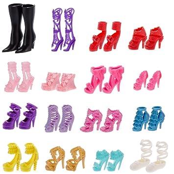 2b18f126 Amazon.es: 60 Pares Tacones Sandalias Zapatos para Barbie Muñecas Juguetes  Accesorios Estilo Aleatorio: Juguetes y juegos