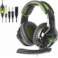 SADES SA810 nueva versión de Xbox One, PS4 Auriculares gaming 3,5 mm sobre la oreja de ruido de aislamiento del…