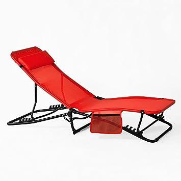 Réglable Chaise Longue Ogs27 Jardin Rouge R Relax InclinablePliable Bain De Sobuy® Et SoleilTransat PliantCampingFauteuil TwPXZkOiul
