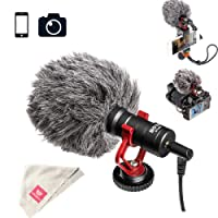 Boya by-MM1 Shotgun Video Microphone for iPhone, Huawei, DJI Osmo Mobile, ZHIYUN Smooth Q Canon, Sony DSLR Cameras