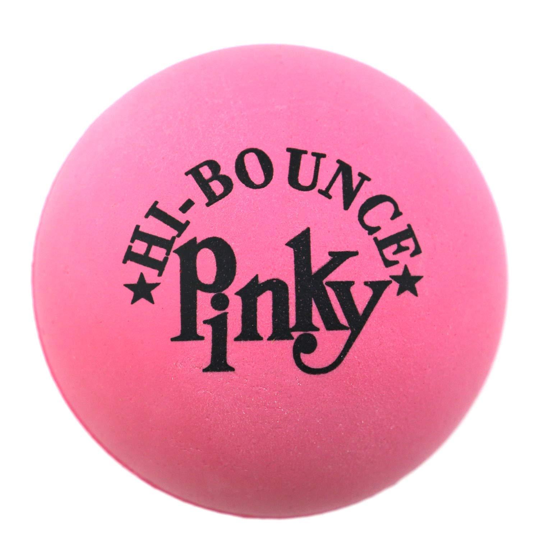Original Hi Bounce Pinky Ball 2.5 Large Pink Rubber Ball 24 Pack Bundle Multi Purpose Play Soft Ballet Dance Massage Ball Dog Ball with 2 GosuToys Stickers