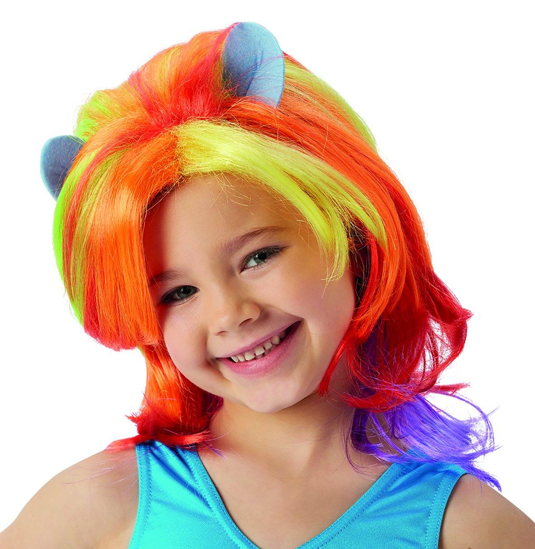 """Rubies""""s: peluca elegante en tonos rosa, oficial de My Little Pony oficial (tamaño único): Amazon.es: Juguetes y juegos"""