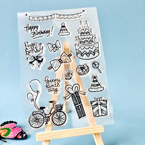 Silicone Clear Stamp Cling Seal Rubber Sheets DIY Scrapbook Card Paper Craft