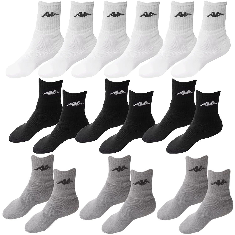 9 Paar Socken Kappa 3 Farben Größe 43 - 46 Tennissocken Strümpfe Arbeitssocken Herrensocken Socke Unbekant