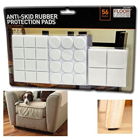 Furniture Pads Wood Laminate Floor Protector Anti Skid Non Slip Feet Rubber  Felt