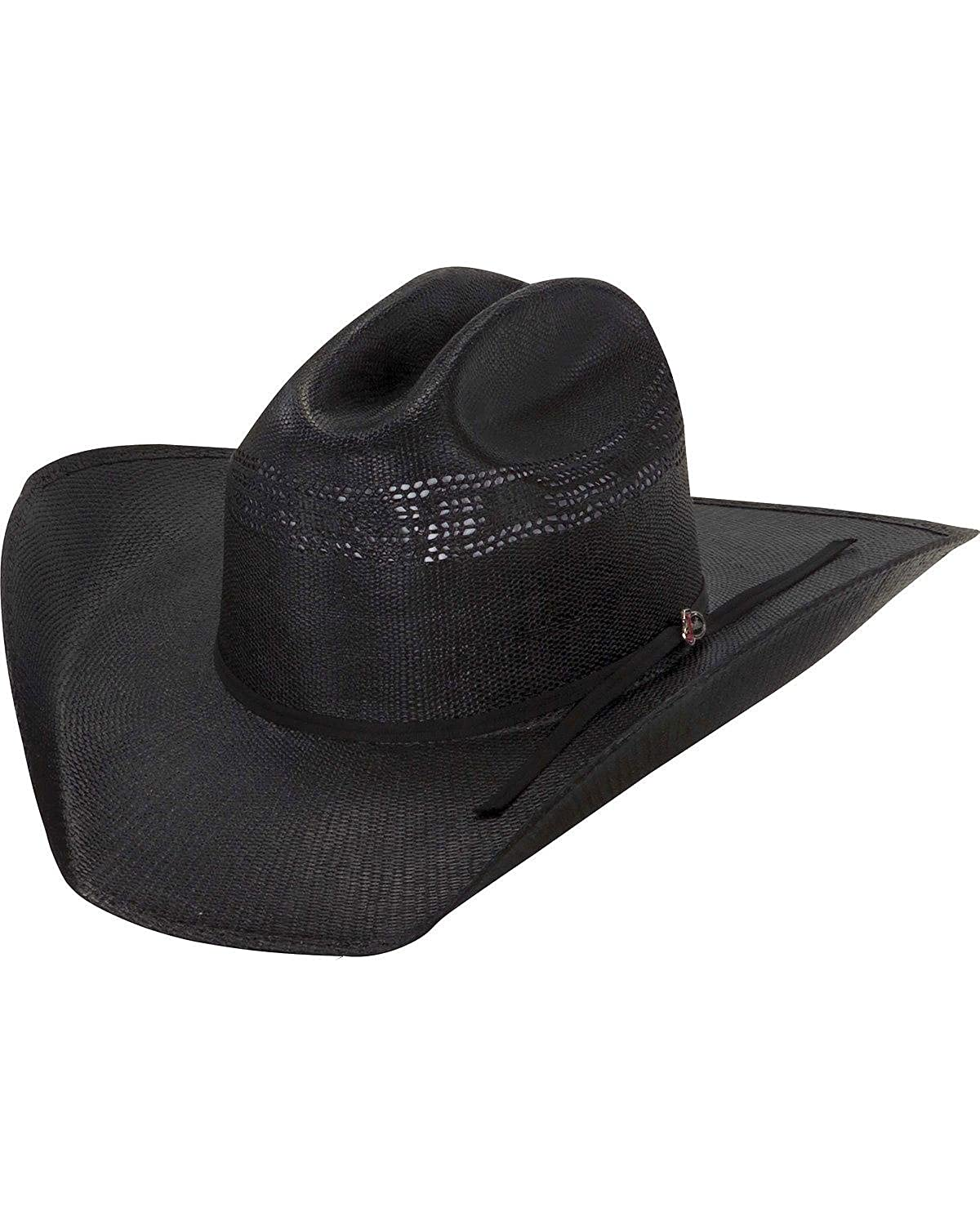3c64fe955aa Justin Men s 20X Cutter Straw Cowboy Hat - Js 1056Cttr-Bk at Amazon Men s  Clothing store