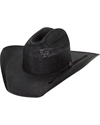 9551b9b374885 Justin Men s 20X Cutter Straw Cowboy Hat Black 6 7 8 at Amazon Men s  Clothing store  Apparel