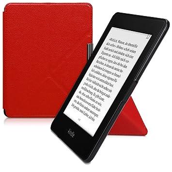 kwmobile Funda para Amazon Kindle Paperwhite - Carcasa para e-Reader Estilo [Origami] - Case de e-Book en [Rojo] (para Modelos hasta el 2017)