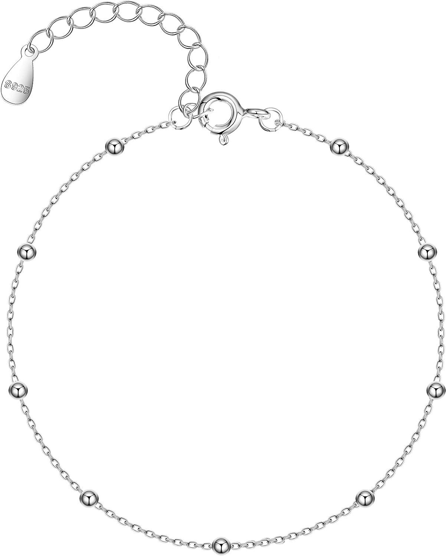 Sterling silver ANKLET bracelet-Handmade-ADJUSTABLE ankle bracelet-Minimalist-Silver jewelry-Simple anklet-Lightweiht-Simple and chic.