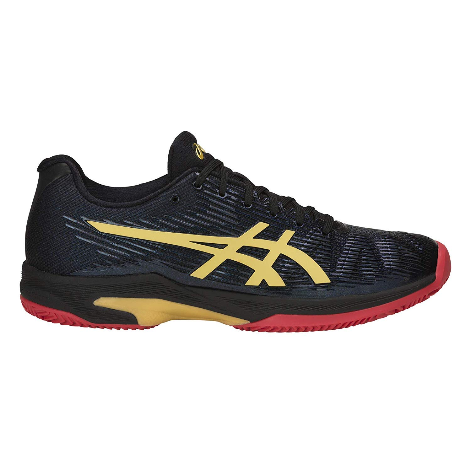 Noir or 49 EU ASICS - Solution Speed FF L.E. Clay Hommes Chaussure de Course (Noir Or)