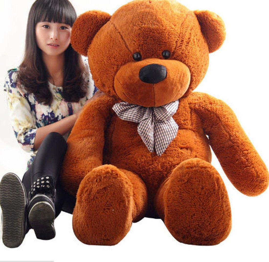 B-kreativer großer Teddybären-Riese Teddy trägt große Weiche Plüsch-Spielzeug Kids UK Stock Dunkelbraun 100cm