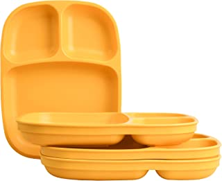 """product image for Re-Play Recycled Products, Set of 4 (10"""" Divided Tray, Sunny Yellow)"""