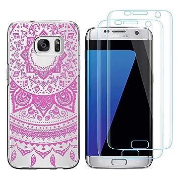 Funda Samsung Galaxy S7 Edge Campanas de Viento Rosa Suave ...