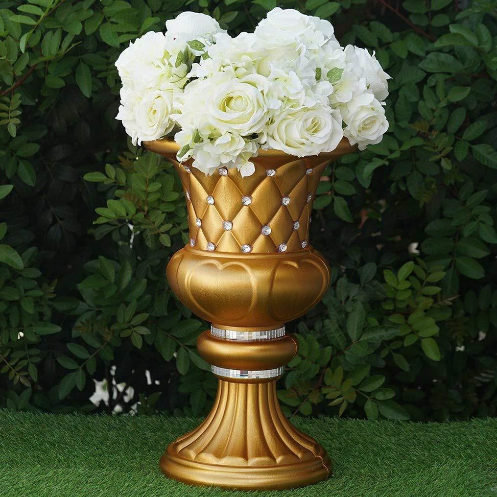 Mikash Wedding VASES 17 Gold with Crystal Beads Wedding Party Decorations Wholesale | Model WDDNGDCRTN - 2029 | 4 pcs