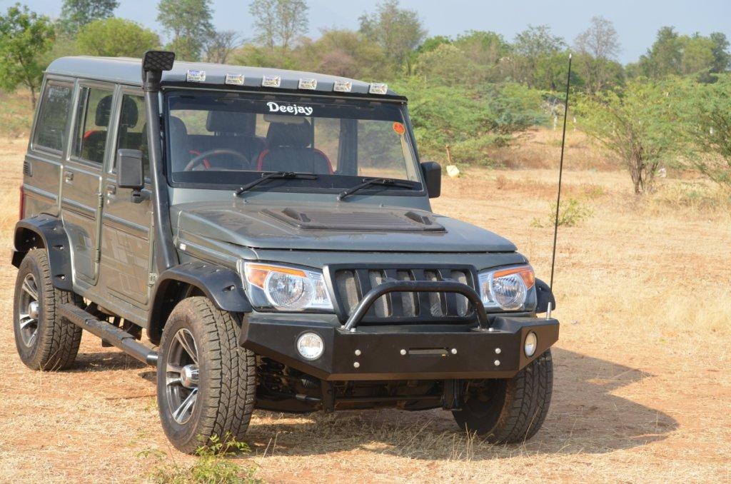RA Customz Fiber Side Fender Flare For Mahindra Bolero Size145x148x16cms ColorBlackSet Of 4 Amazonin Car Motorbike