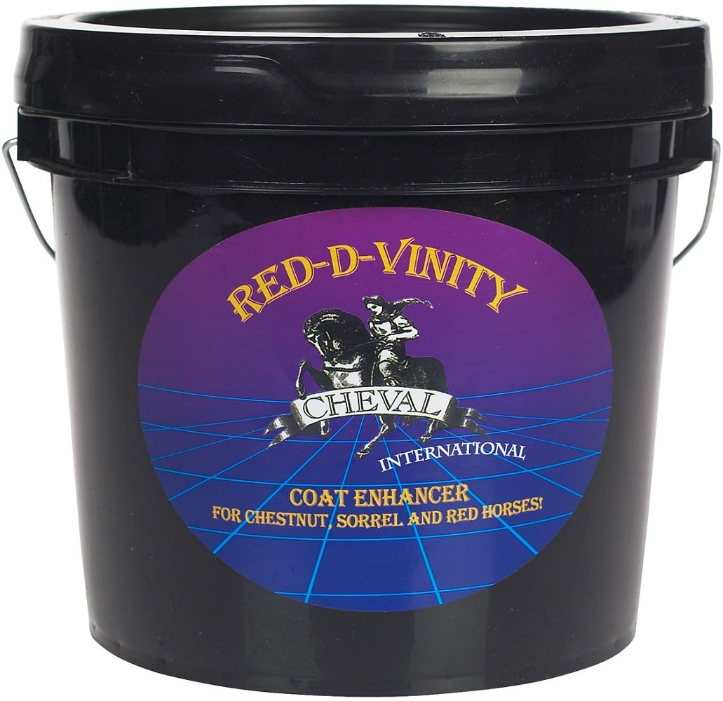 RED-D-VINITY Horse Coat Enhancing Supplement For Chestnuts, Sorrels, Roans, Some Pintos, and Other Reds! 23 Pound