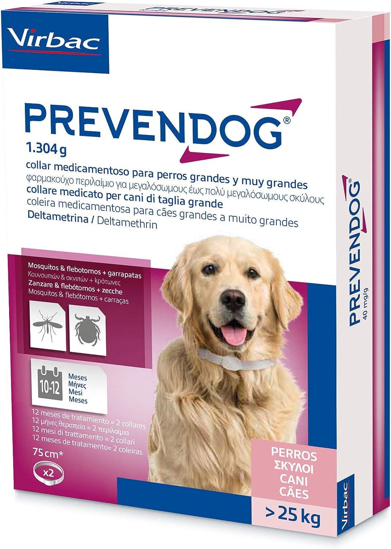 Virbac Prevendom 2 collares 75 cm > 25 kg