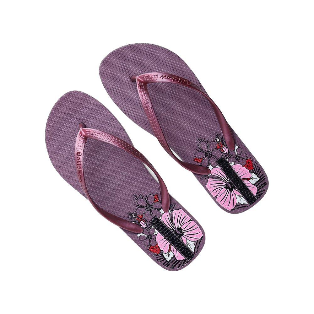 DULEE Damen Sommer Strand und Casual Flip Flops Thongs Sandalen Slipper  36 EU|Lila