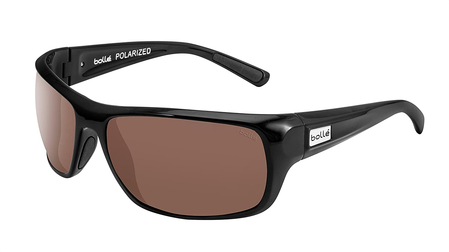 Bolle Timber Sunglasses Shiny Black Frame Polarized Brown Lenses