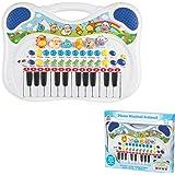 Piano Musical Animal Braskit Azul
